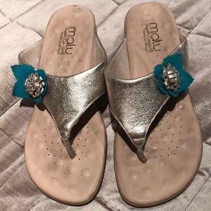 MALU Flower embellished super comfort sandals